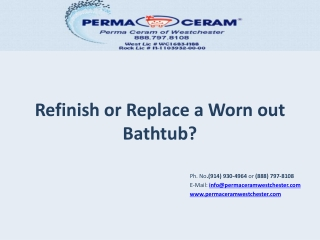 Refinish or Replace a Worn out Bathtub?