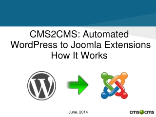 Automated WordPress to Joomla Extension: How It Works