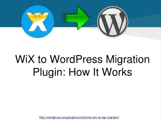 WiX to WordPress Migration Plugin: How-It-Works