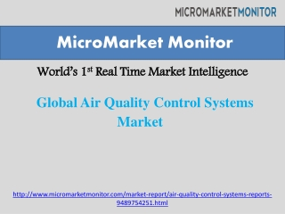 Global Air Quality Control Systems Market Trending Towards High Growth with Strong CAGR