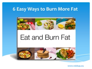 6 Easy Ways to Burn More Fat
