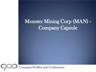 Monster Mining Corp (MAN) - Company Capsule