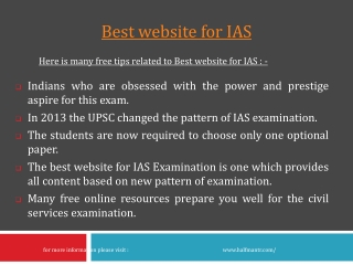 Here are more Best website for IAS