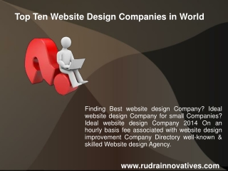 Top Ten Website Design Companies in World