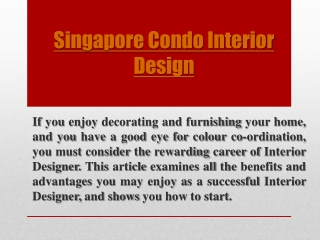 Renovation Packages Singapore