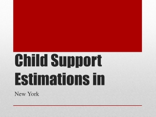 How Is Child Support Calculated In New York?