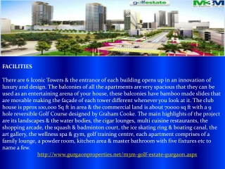 M3M Golf Estate in Gurgaon