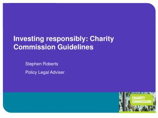 investing responsibly: charity commission guidelines