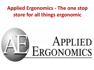 Applied Ergonomics - The one stop store for all things ergon