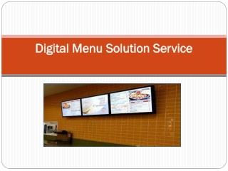 digital menu service