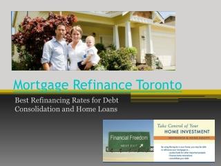 Mortgage Refinance Toronto