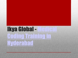 Medical Coding Training Institute in Hyderabad