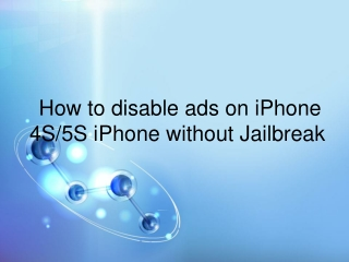 How to turn off apps ads on ios device without jailbreak?