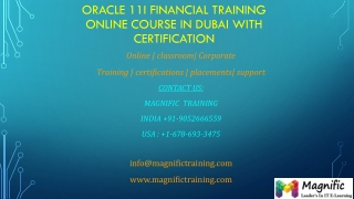 Oracle 11i Financial Training Online Course in dubai
