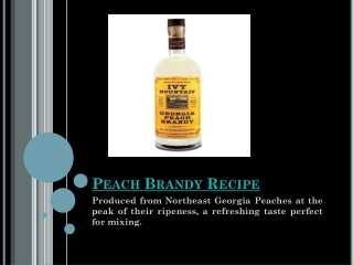 Peach Brandy Recipe