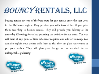 Enjoy Your Party with Bouncy Rentals