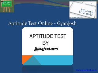 Aptitude Test Online By Gyanjosh