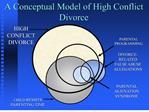 a conceptual model of high conflict divorce