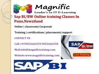 Sap BI/BW Online training Classes In Pune,Newziland