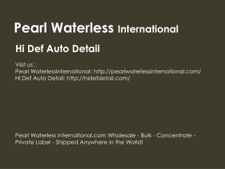 Hi Def Auto Detail a Pearl Partner