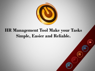 HR Management Tool Make your Tasks Simple, Easier and Reliab