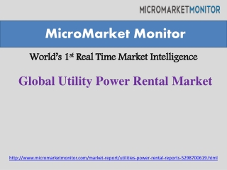 Utility Power Rental Market Driven by Growth in Energy Demand