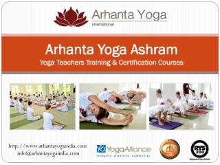Arhanta Yoga Ashram - Yoga Teachers Training India