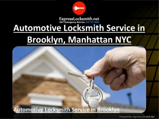 Automotive Locksmith Service in Brooklyn, Manhattan NYC