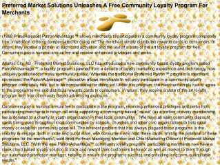 Preferred Market Solutions Unleashes A Free Community