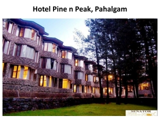 Hotel Pine n peak is budget hotel in Pahalgam with best in c