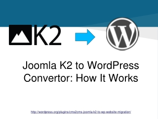 CMS2CMS: Joomla! K2 to WordPress Website Migration