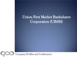 Union First Market Bankshares Corporation (UBSH) - Company P