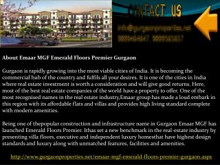 Emaar MGF Emerald Floors Premier Gurgaon