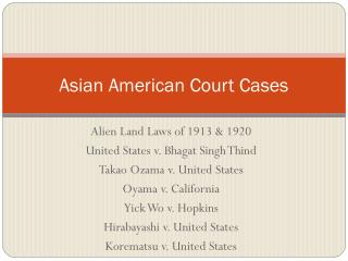 asian american court cases