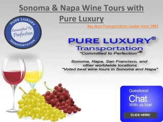Sonoma and Napa Valley Wine Tours
