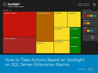 How to Take Actions Based on Spotlight on SQL Server Enterpr