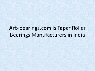 Arb-bearings-com-is-Taper-Roller-Bearings-Manufacturers-in-I