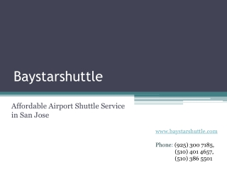 Affordable Airport Shuttle Service in San Jose