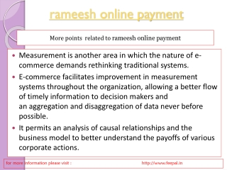Some of the institutes provide rameesh online payment