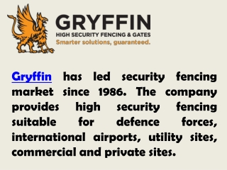 Best Security Fencing by Gryffin