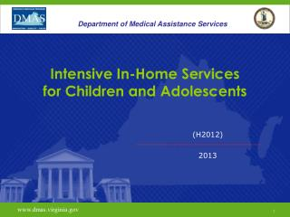 Intensive In-Home Services for Children and Adolescents