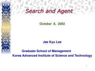 Search and Agent October 8