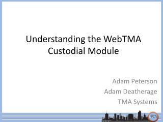 Understanding the WebTMA Custodial Module