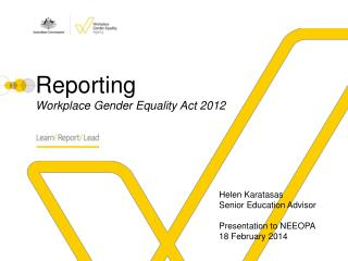 Reporting Workplace Gender Equality Act 2012