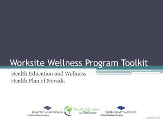 Worksite Wellness Program Toolkit