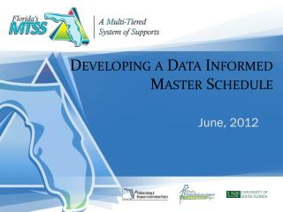 Developing a Data Informed Master Schedule