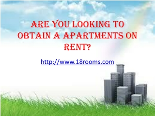 Get service apartments for your business needs or for Living
