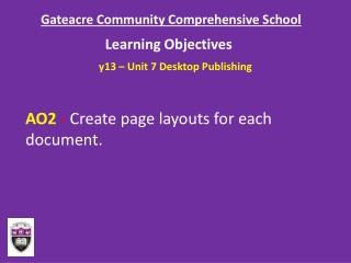Gateacre Community Comprehensive School