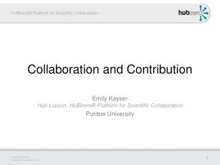 Collaboration and Contribution