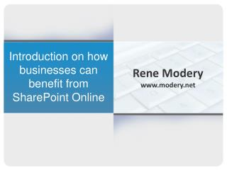 Introduction on how businesses can benefit from SharePoint Online